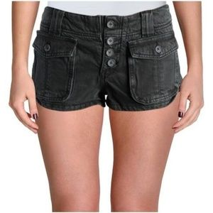 Free People Cora Button Front Denim Shorts